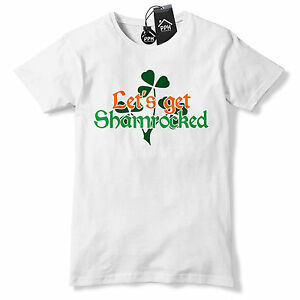 96143b2ce Lets Get Shamrocked Irish Funny Drunk Ireland Tshirt St Patricks Day ...