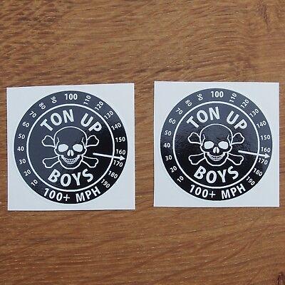 Motorcycle Biker Jacket Cafe Racer Rocker Rockabilly Ted Vinyl Stickers GREASER