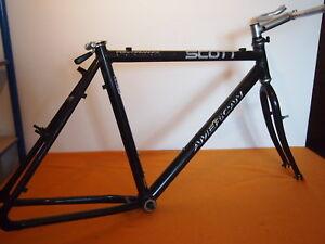 Scott-American-26-034-Aluminium-Rahmen-Mountainbike-7005-Series-Gabel-Vorbau-Lenker