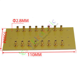 4pc-copper-plated-Gold-Fiberglass-Turret-Terminal-Strip-16pin-Lug-Tag-Board-amp