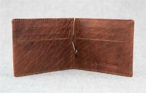 Billy-Goat-Designs-Leather-Bifold-Wallet-WME-men-money-clip-cash-card-Men-039-s