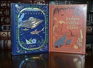 NEW 20,000 Leagues Under Sea Journey Center Earth Jules Verne Sealed Leather Set