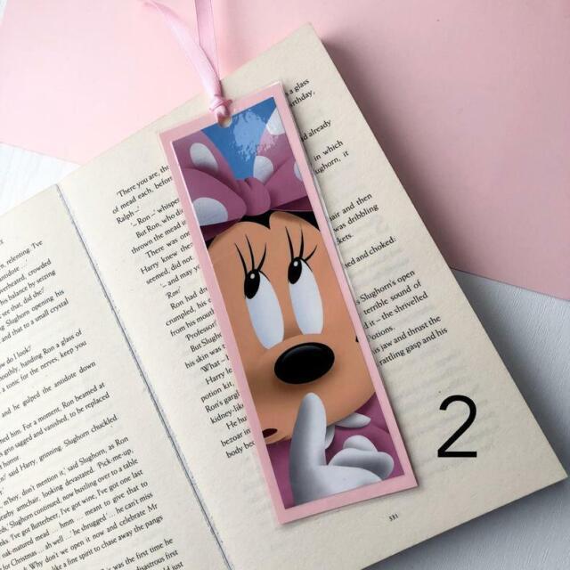 Disney Mickey Mouse Laminated Bookmark Gift Book Minnie Daisy Donald Goofy Pluto