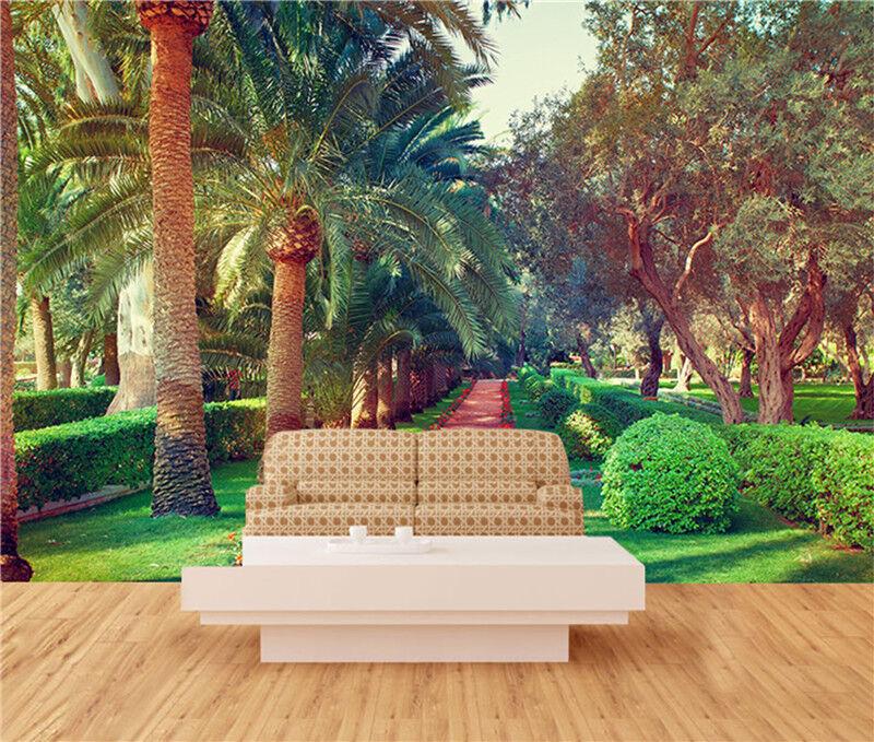 3D Tropische Bäume Muster 8576 Tapete Wandgemälde Tapeten Bild Familie DE Lemon