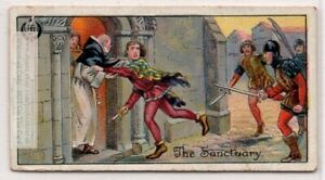 English-Right-Of-Church-Sanctuary-Middle-Ages-Custom-1920s-Trade-Ad-Card