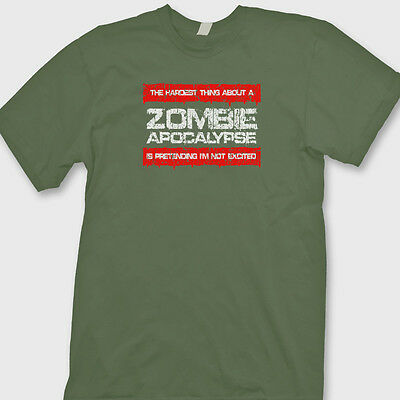 The Hardest Thing About Zombie Apocalypse T-shirt Funny Monsters Tee Shirt