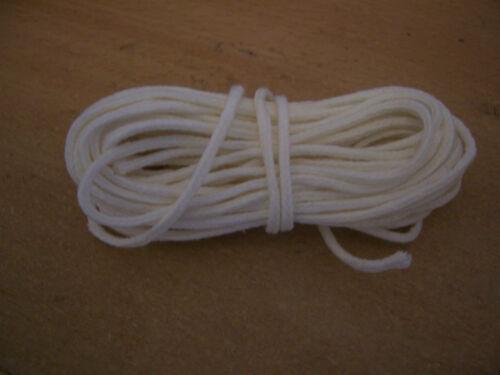 """Candle Wick 10 Mètre Coton Tressé-pour 2.1//2/"""" à 3/"""" MBC-3 65mm-75mm"""
