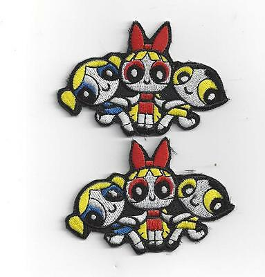 2 x  POWERPUFF GIRLS IRON ON  PATCHES ONLY $3