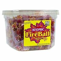 Atomic Fireball Cinnamon Flavor Candy 150 Ct Sealed Jawbreakers Large Size