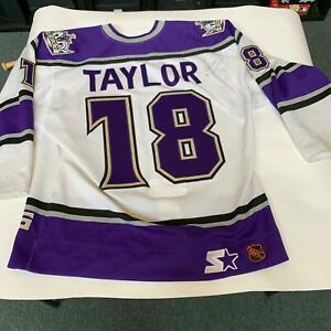 Dave-Taylor-Signed-Game-Used-Los-Angeles-Kings-Jersey-With-PSA-DNA-COA
