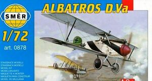 Albatros D.Va, German WW1 Fighter (1/72 model kit, Smer 0878)