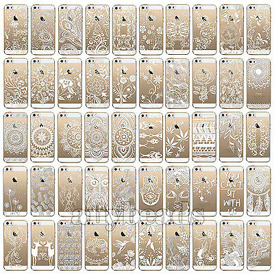 New Thin Soft Flower Paisley Tribal Cover Phone Case for iPhone 4 5 5C 6 6s Plus