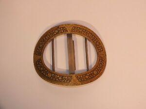 558868bdaf60 Boucle de ceinture vintage en métal doré et niellé   eBay