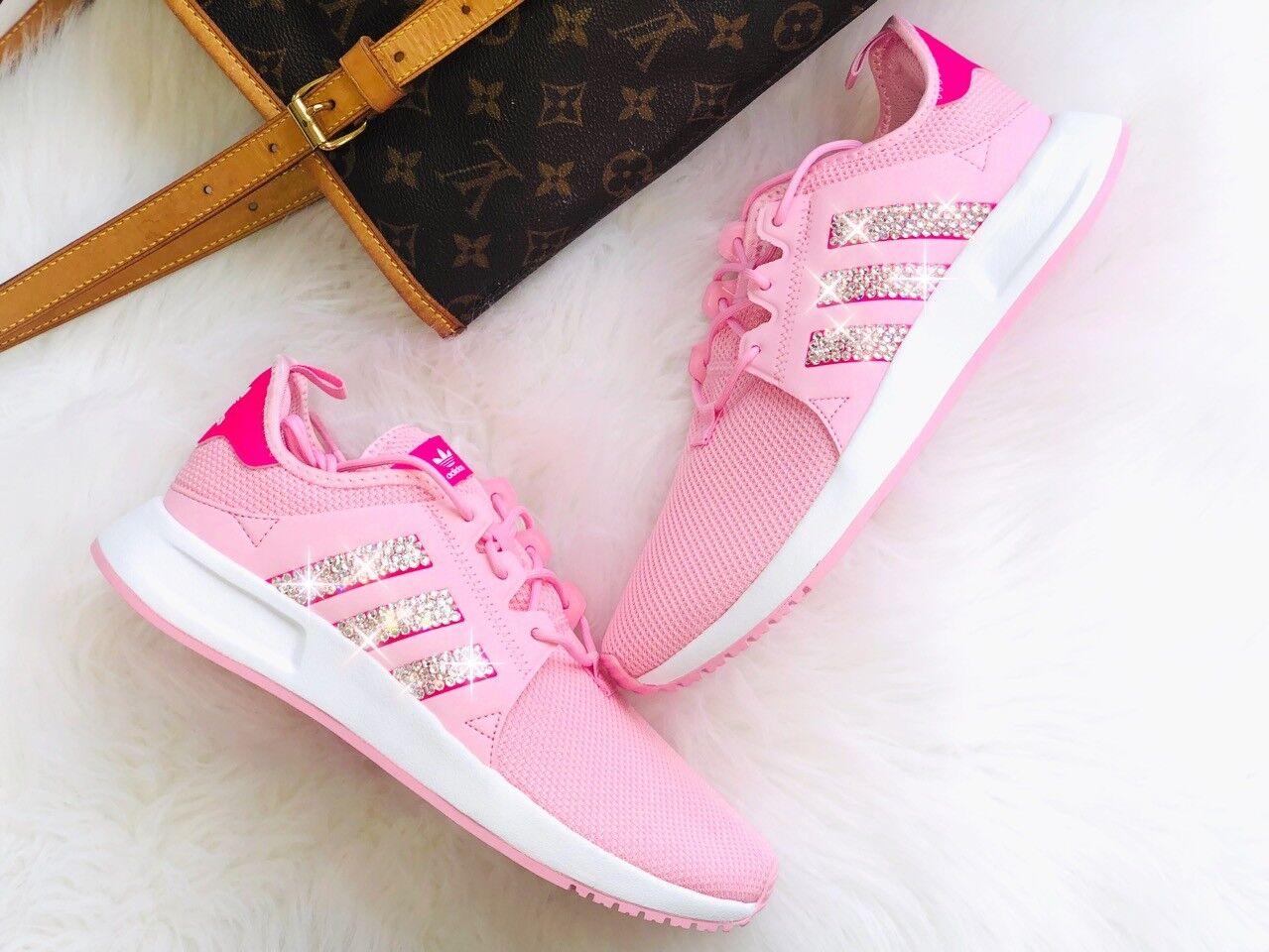 Adidas Originals X PLR J Pink   pink mit Swarovski Elements Luxus Sneaker NMD