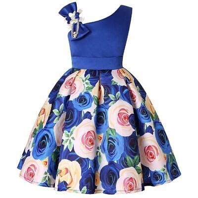 Vestidos Ropa De Moda Para Niña Cumpleaños Vestido Fiesta Largo Casual Princesa Ebay
