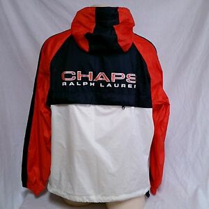 Vtg Chaps Ralph Lauren Windbreaker Jacket Spell Out 90 S