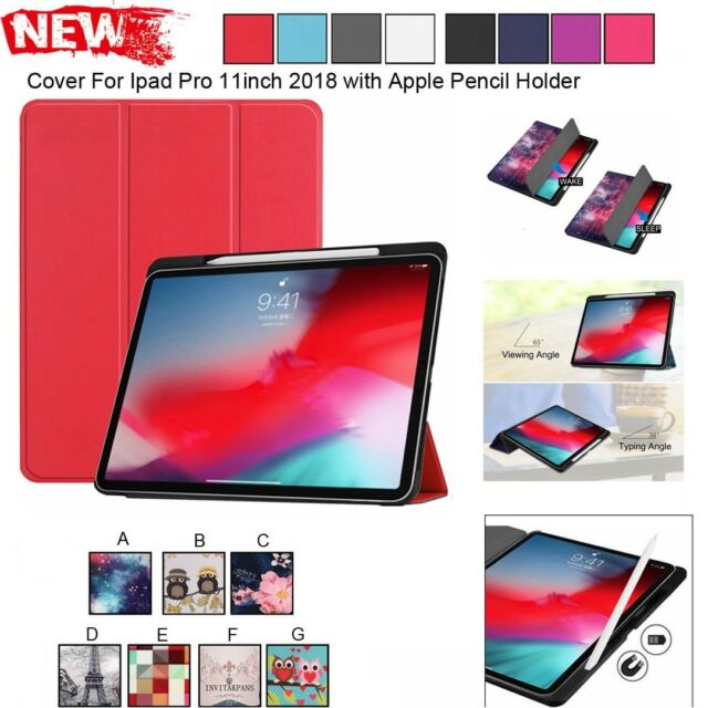 For iPad Pro 11 Inch /12 Inch Slim Leather Case Cover With Apple Pencil Holder