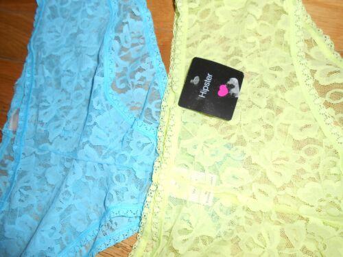 5 Paire Lot Taille L Hipster et Hi Cut Lace Panty 45 $ Valeur Neuf avec étiquettes