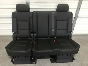 Prime Details About 2007 2019 Tahoe Yukon Escalade 2Nd Second Row Jet Black Bench Seat Complete Pdpeps Interior Chair Design Pdpepsorg