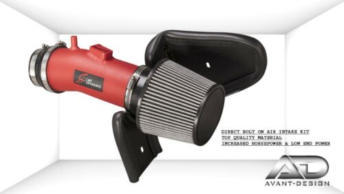 FOR 07-14 ACURA TL TYPES 08-12 ACCORD CROSSTOUR 3.5 V6 AF DYNAMIC AIR INTAKE RED