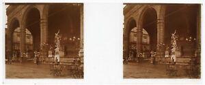Firenze Loggia Dei Lanzi Italia Foto PL53L6n7 Stereo Placca Da Lente Vintage