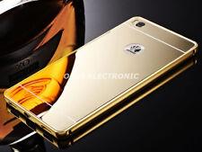 Gold Slim Aluminum Metal Bumper Mirror Back Case Cover For Huawei GR3 S002
