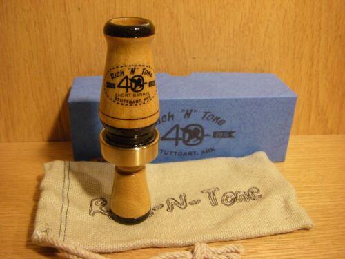 40th RNT Rich-N-Tone Short Barrel Burnt Bois D/'Arc Mallard Duck Call Hedge Wood