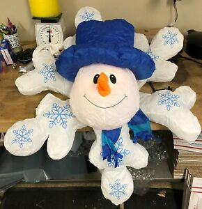 Holiday-Inflatable-2-5-ft-Rotating-Lighted-Snowman-Snowflake