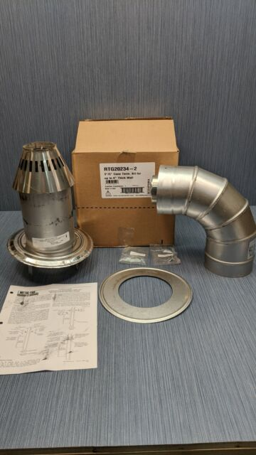 Rheem RTG20151B-1 3-Inch//5-Inch 45-Degree Tankless Water Heater Elbow