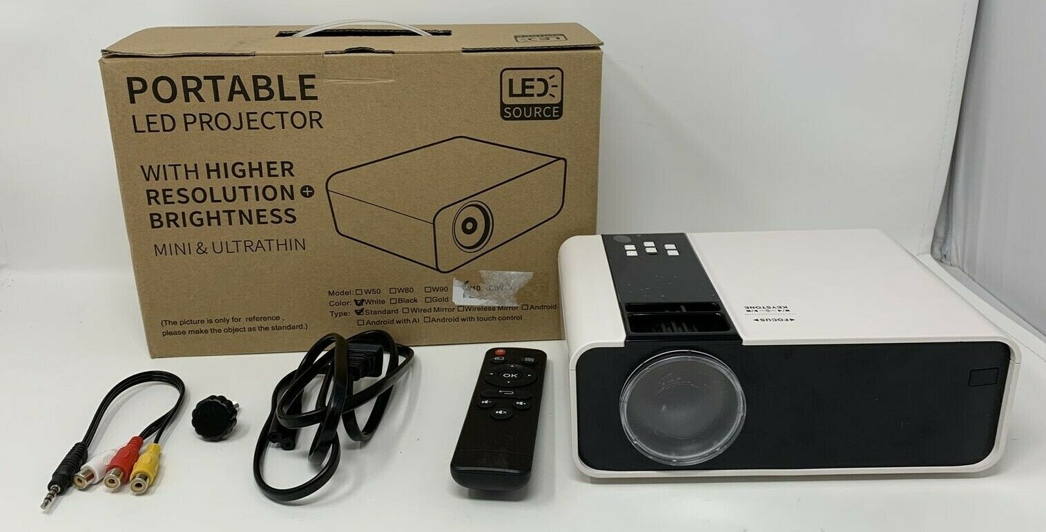 QK02 franchiseliquidations Mini Portable LED Projector With Higher Resolution And Brightness - Model W10