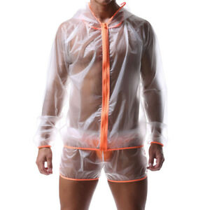 outlet sale factory shop for luxury Details about Mens Raincoat Waterproof Jacket Transparent Zipper Rainwear  Tops Shirts Fashion
