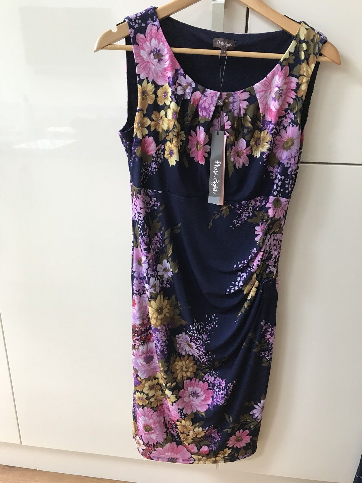BNWT Phase Eight purple Vintage Floral Dress - Size 12 - RRP