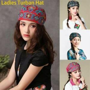 Women-039-s-Hat-Cap-Bohemia-Floral-Ethnic-Head-Wrap-Scarf-Beanie-Cotton-Turban-AU