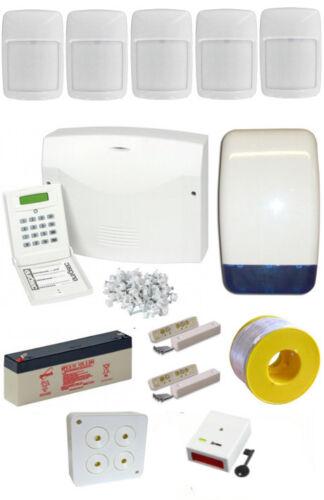 Internal Siren /& PA Intruder Burglar Alarm System PRO Kit LCD Keypad 5 PIRs