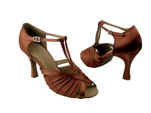 Latin Salsa Very Fine Ballroom Competitive Dance Shoe SERA2707 Tan Satin