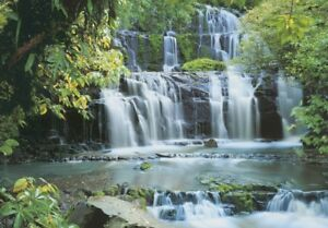 Wall-Mural-FALLS-IN-THE-FOREST-photo-wallpaper-Giant-Green-Wall-Art-Waterfall