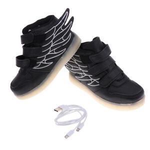 Details zu Flügel LED leuchten Schuhe blinkende wiederaufladbare Turnschuhe für