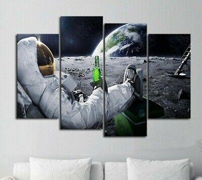 Multi Panel Print Beer Canvas Set Micro Brew 5 Piece Wall Art Astronaut Man Cave Ebay