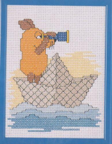 Rico Kreuzstich Ente sticken Stickpackung Sendung mit der Maus ab 13x18cm