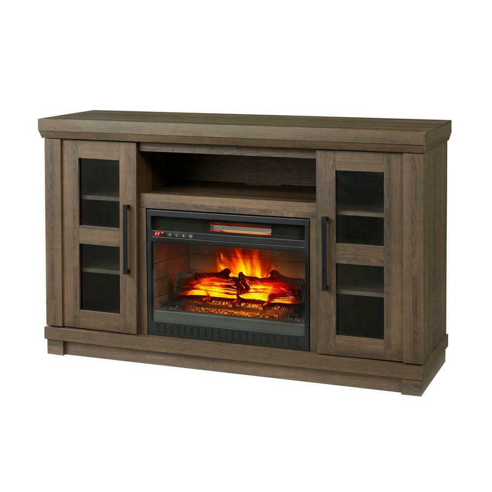 Muskoka Infrared Electric Fireplace Tv Stand Freestanding With Sliding Door For Sale Online Ebay