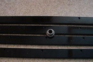 CNC-Plasma-table-mech-Rack-amp-Gear-96-034-Rack-4x24-034-pcs-amp-a-20T-1-2-034-pinion-gear