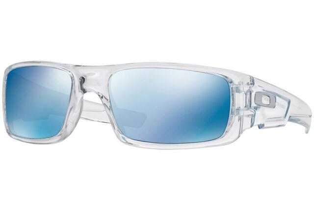 Oakley Crankshaft Sunglasses OO9239-04 Polished Clear Frame W/ Ice Iridium Lens
