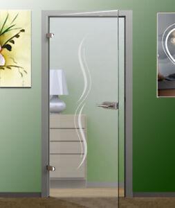 glast rfolie glasdekor dekorfolie modern folie f r glast r oder zimmert r ebay. Black Bedroom Furniture Sets. Home Design Ideas