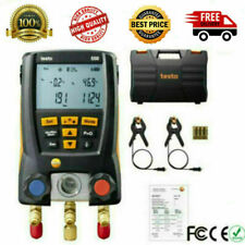 Testo 550 Refrigeration Meter Digital Manifold 0563 1550 With 2 Clamp Probes Case