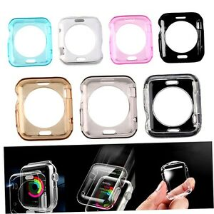 Soft-Thin-TPU-Protective-Case-Cover-For-Apple-Watch-iWatch-42mm-Screen-Guard-QB