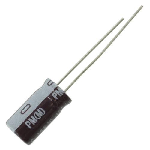 22 uF @ 250 VDC fresh stock Nichicon PW series 105C electrolytic capacitor
