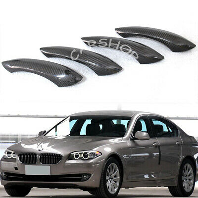 For BMW 5 GT 6 7 Series M5 M6 F10 F12 F13 Car Carbon Fiber Door Handle Cover LHD