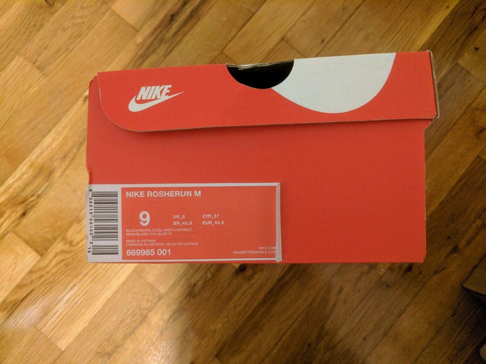 NEW Mens Nike Rosherun M Run 669985-001 Marble Marble Marble Black White Cool Grey Roshe 9 DS 9beafd