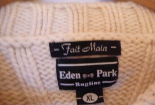 in da Eden Xl Broken Maglione uomo lana fatto Park a mano White Rn1Efx