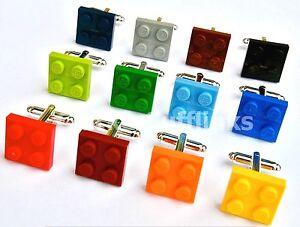 LEGO-Piastra-Gemelli-Argento-placcato-sposo-matrimonio-compleanno-regalo-da-uomo